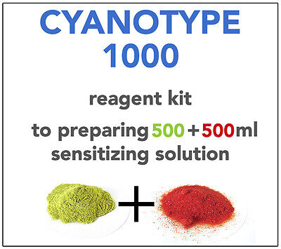 CYANOTYPE REAGENT KIT(for 500+500ml) ALL YOU NEED TO SENSITIZE 240-250 A4 SHEETS