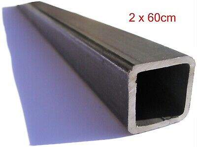 Steel Tube Square Box Section Pipe Round Bar Hobby Tubing 25mm X 60cm 2pcs