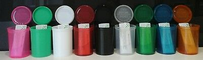 30dram Container pop top pots 9 of them with FREE rx medical labels for each 1