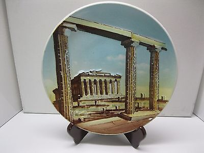 "Vintage Greek Decorative Plate Athens NAPOENON Hand Painted 9 1/4""-Rare!"