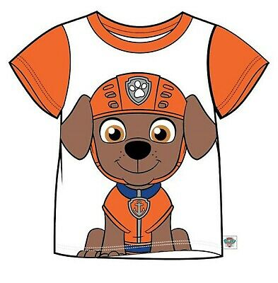 PAW PATROL Boys/Girls ZUMA Short-Sleeved Face T-Shirt/Top Sizes 2-7 years NWT