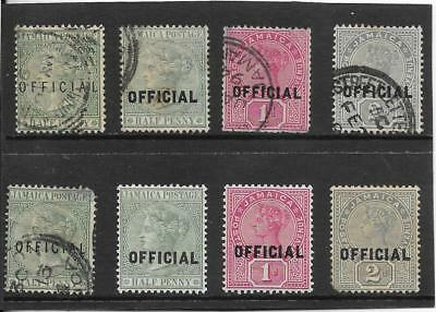 Jamaica 1890-91 Officials Selection Mh + Used. Mixed Condition.  (191)