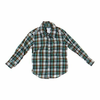 Carter's Boys  Shirt, size 2/2T,  brown, turquoise, white,  cotton