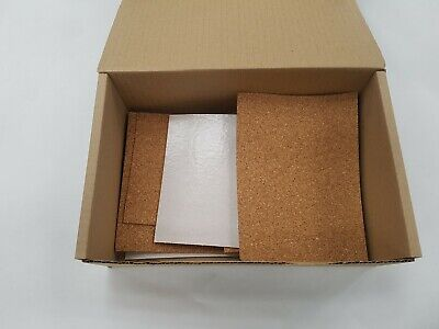 Cork Sheet - Box Of Mixed  Plain & Adh Backed- 2Mm,3Mm And 6Mm In Various Sizes