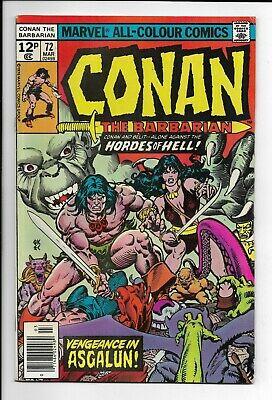 Conan The Barbarian #72 : Fine 6.0 : Marvel Bronze Age