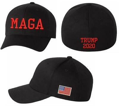 promo code 6b334 9b746 Make America Great Again Hat - Black Flex Fit Hat with Red Embroidery MAGA  TRUMP