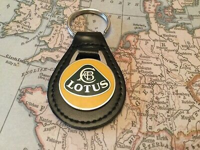 LOTUS ENAMEL Quality Black Real Leather Keyring ELISE EVORA EXIEGE ESPRITE