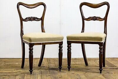 Antique 19th Century Carved Solid Rosewood Dining / Bedroom / Side Chairs