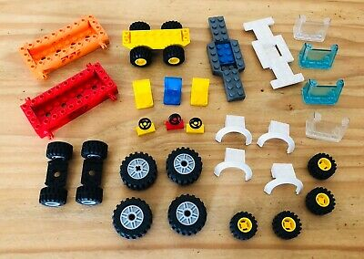 LEGO Car Parts Custom Set Seat Gear stick Steering wheel Doors Windscreen