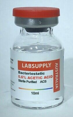 BACTERIOSTATIC 0.6% ACETIC ACID 10ml REFINED STERILE - BACTERIA-FREE qty 1