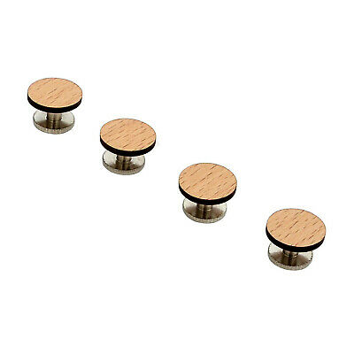 Customizable Wood Tuxedo Shirt Studs - View the Selection