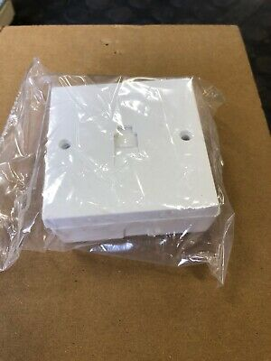 RJ11 Surface Socket WE6/2/3A Qty 5