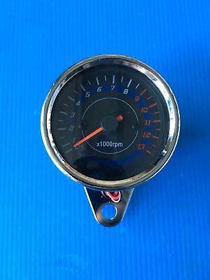 Rev Counter Analogical Cafe' Racer Chrome New