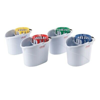 Vileda Professional Supermop Bucket and Wringer Colour Coded Plastic Cleaning