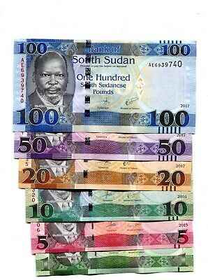 Other African Paper Money Coins & Paper Money South Sudan 5 Pound 2015 Pick New Unc Uncirculated Banknote