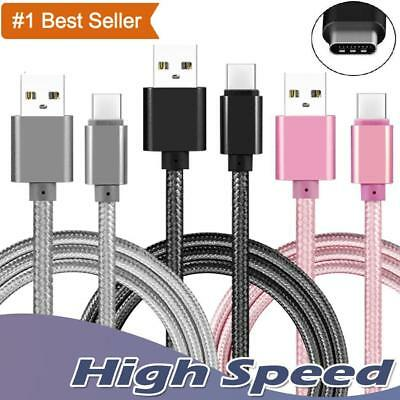 Heavyduty Braided Fast Charge USB C Type C Data Phone Charger Cable Lead 2m 3m