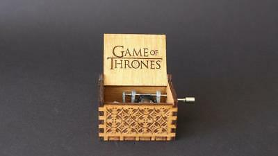 Game Of Thrones Handmade Engraved Wooden Music Box