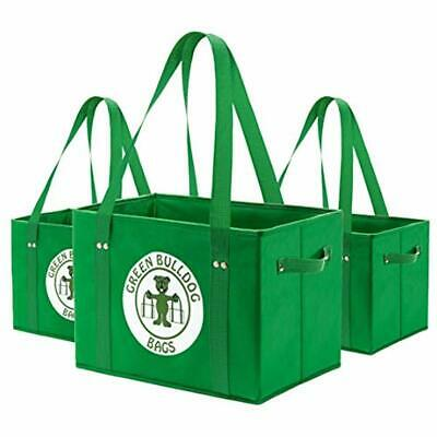79160ef7ab2f GREEN BD'S REUSABLE Grocery Bags. Large, Stain Resistant & Spillover ...