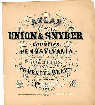 Atlas Union-Snyder Counties (PA,Pennsylvania,Genealogy):1868 (Download files)