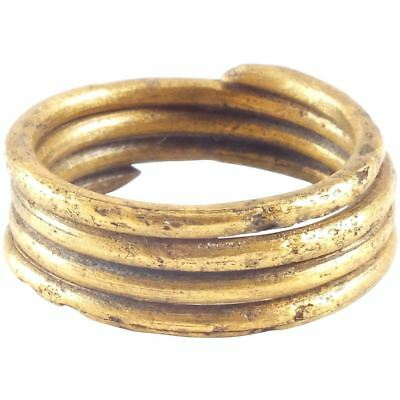 ANCIENT VIKING COIL RING, 10th CENTURY AD Size 9 1/4.