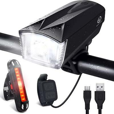 Lampara LED Frontal y Trasera Ciclismo Recargable Impermeable