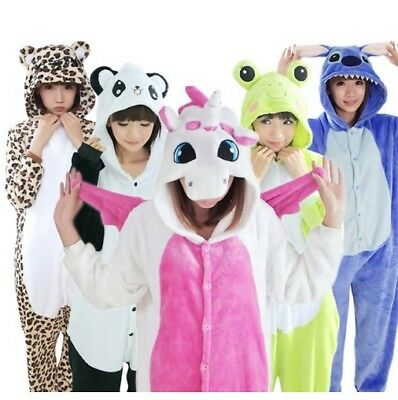 2020 Animals Heros Adult Kids Costume 13x Onepiece Flannel Pajamas Suit Carnival