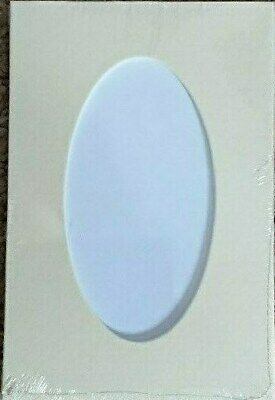 "5 Pack Oval Mounts Photo Picture Frame 6"" x 4"" Cream (Photo 4 1/4"" x 2 1/4"")"