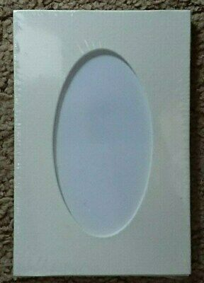 "5 Pack Oval Mounts Photo Picture Frame 6"" x 4"" Soft White Photo 4 1/4""x 2 1/4"""
