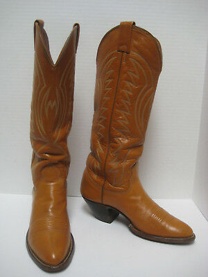 Vtg NOCONA Women's TALL L907 ALL LEATHER COWGIRL RANCH BOOTS ~ Sweet Pair ~ 5.5B
