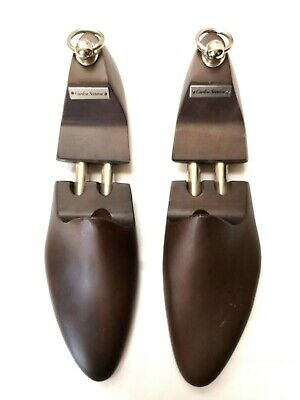 NEW Carlos Santos Brown wooden men's shoe trees size 8 UK / 9 US RARE