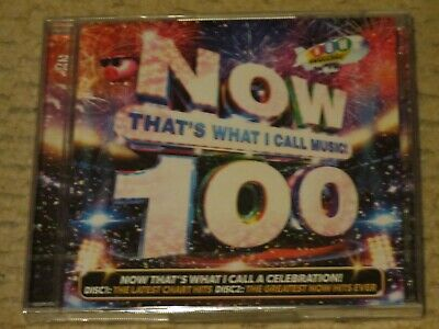 NEW/SEALED 2 CD Now That's What I Call Music 100 (George Ezra/Dua Lipa/Sia etc