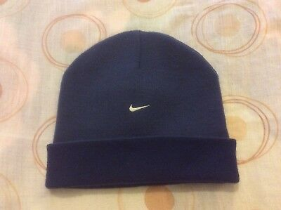 best authentic d4ee7 f432b Nike Navy Blue Reversible Beanie Hat One Size Fits All Brand New Without Tag