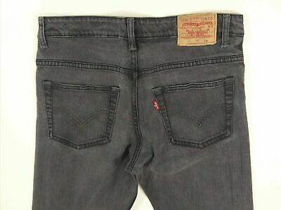 Girls Levis Strauss Black Slim Fit Wash Denim Jeans Age 14 Yrs