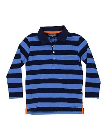 NWT Toobydoo Blue Long Sleeve Striped Polo Shirt $46 Choose Size