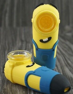 "Minion Silicone Hand Pipe 4"" US SELLER Buy 3 Get 1 Free"