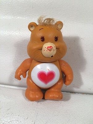 """Vintage Collectible 1983 Care Bears TENDER HEART BEAR 3 1/2"""" PVC Toy Figure"""