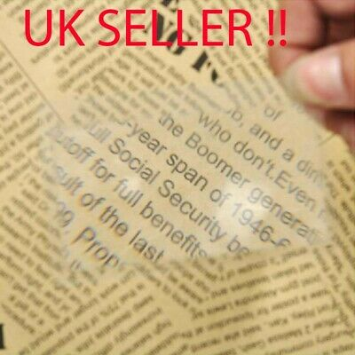Magnifier Magnifying Reading Glass Plastic Flexible Lens Credit Card Size