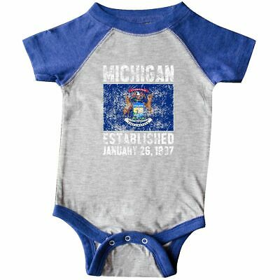 Inktastic Love Michigan Infant Creeper State Support America Lake Great Lakes