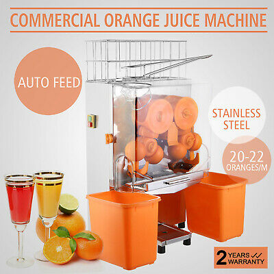 Electric Portable Orange Juicer Squeezer Fruit Extractor Auto Feed Machine