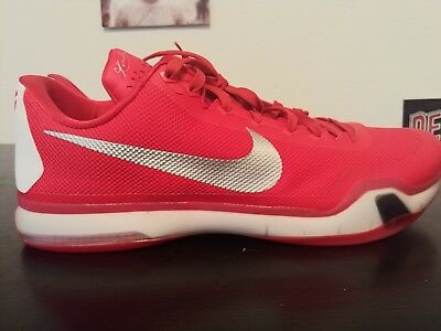 0a3aa0e9ceb9 Nike Men s Kobe 10 X Red White Basketball Sneakers Shoes Sz 18 Bryant 813030 -602