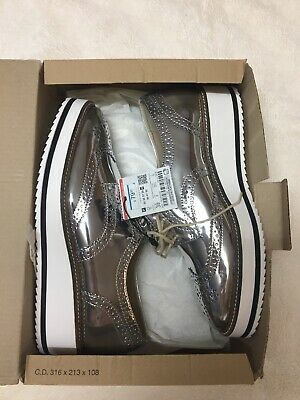 0d4db84d694f Zara Women s Silver Platform Derby Shoes Blucher Oxfords EU 39 US 8  1341 001