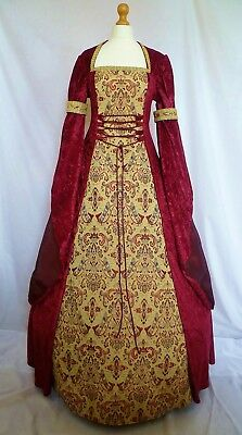 Medieval Dress Renaissance Wedding Gown Gothic Costume Custom Made To Size
