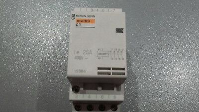 CONTACTEUR  TETRA 25 A MERLIN GERIN bobine 23OV ,  4 contacts NO