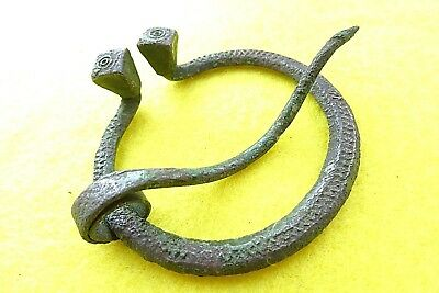 Viking Decorative Pen-annular Bronze Fibula