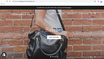 PROFITABLE Handbags Ecommerce Dropshipping Website Business 450+ PRODUCTS!