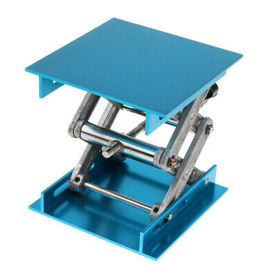 Lab Jack Stand Table Scissor Lifting Laboratory Equipment 100x100x150mm Blue