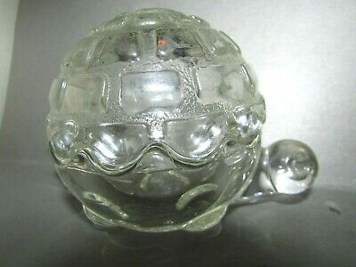 Vintage Anchor Hocking Glass Turtle Candy / Whatnot Box