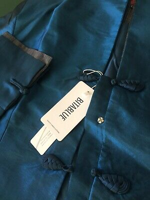 d50eb24e3 BITABLUE WOMEN'S BLUE Double-Layer Stand-up collar Chinese Jacket XL ...