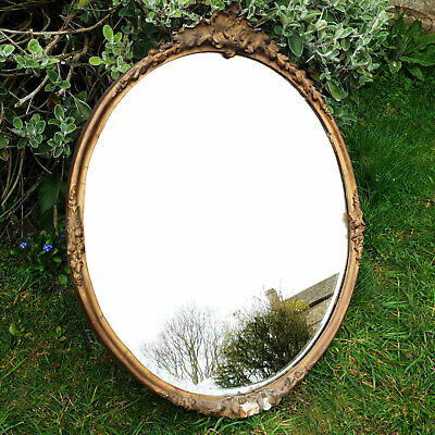 Victorian Oval Gilt Framed Wall Mirror C19th (Antique)