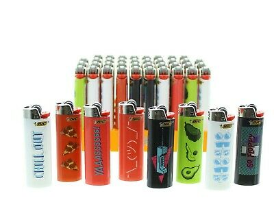 Pack of 50 Bic Trends Lighters Assorted Lighter Display with Tray POS Bulk Lot
